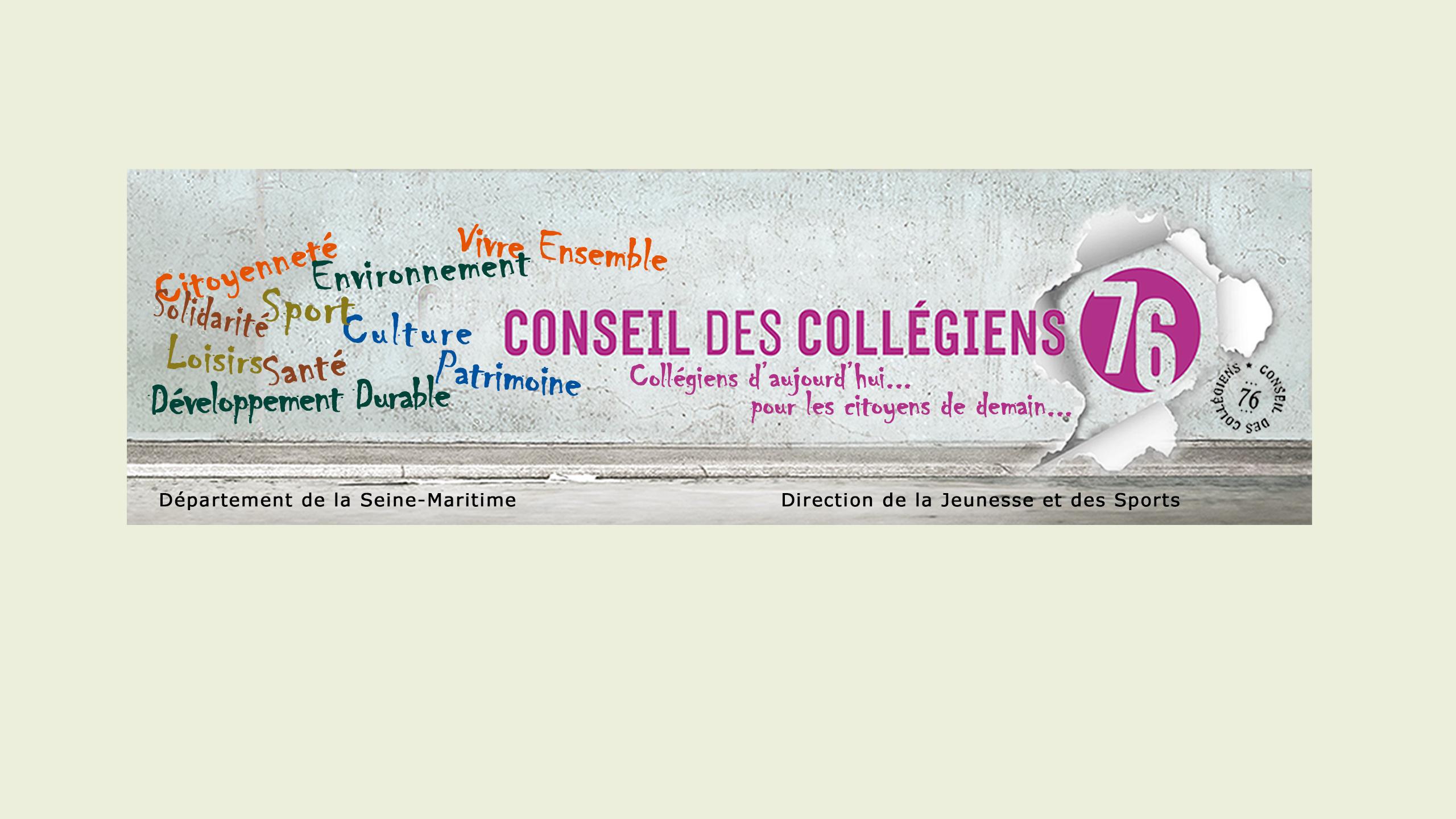 Header Image - Conseil des Collégiens de la Seine-Maritime